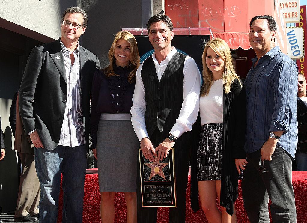 Comedian Bob Saget, producer Lori Laughlin, actor John Stamos, actress Candice Bure and Jeff Franklin