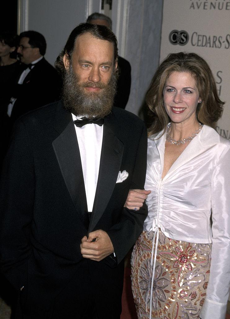 Tom Hanks and his wife, Rita Wilson, 2000