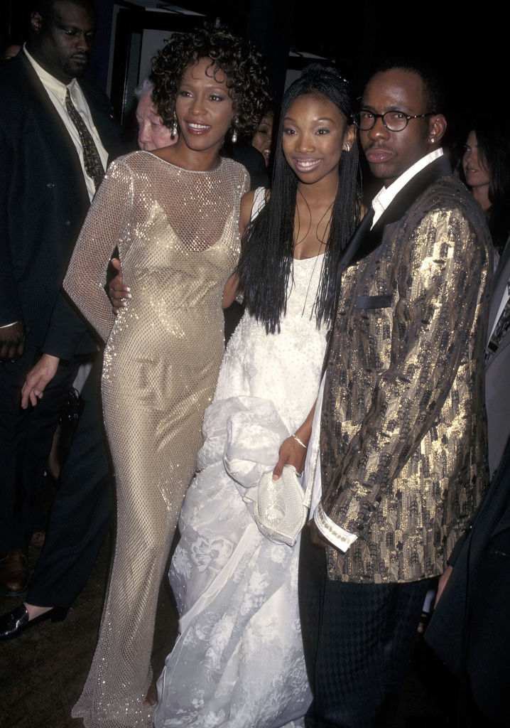 Whitney Houston, Brandy, and Bobby Brown