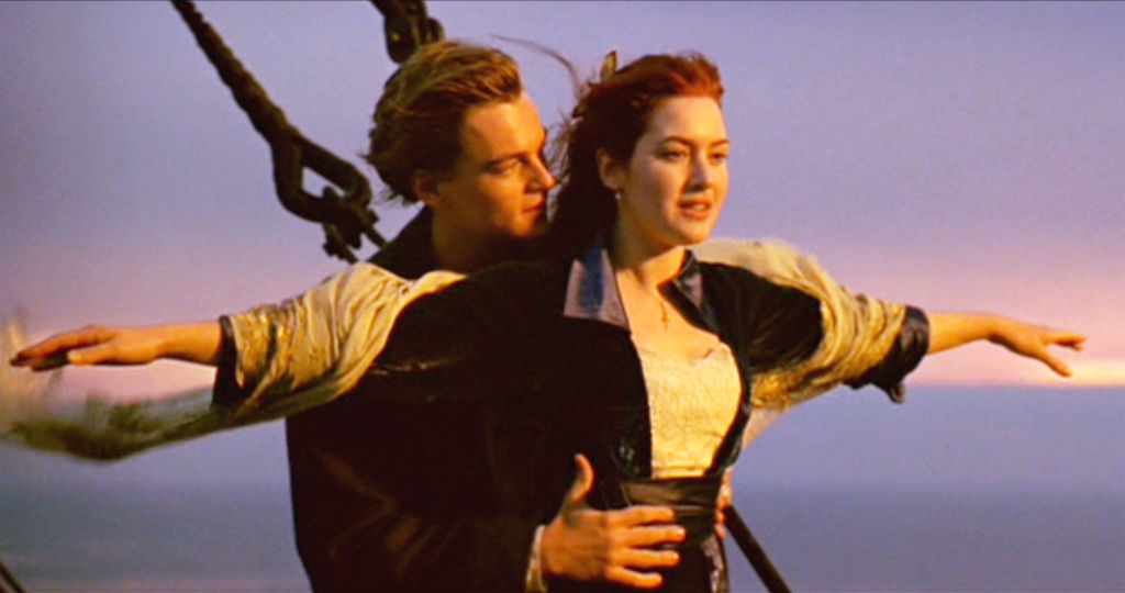 A scene from 1997's 'Titanic,' starring Leonardo DiCaprio and Kate Winslet
