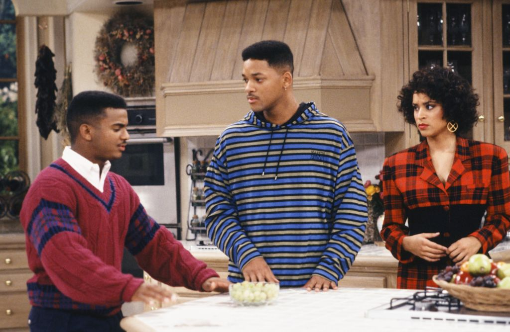 Alfonso Ribeiro, Will Smith, and Karyn Parsons in 'The Fresh Prince of Bel-Air'