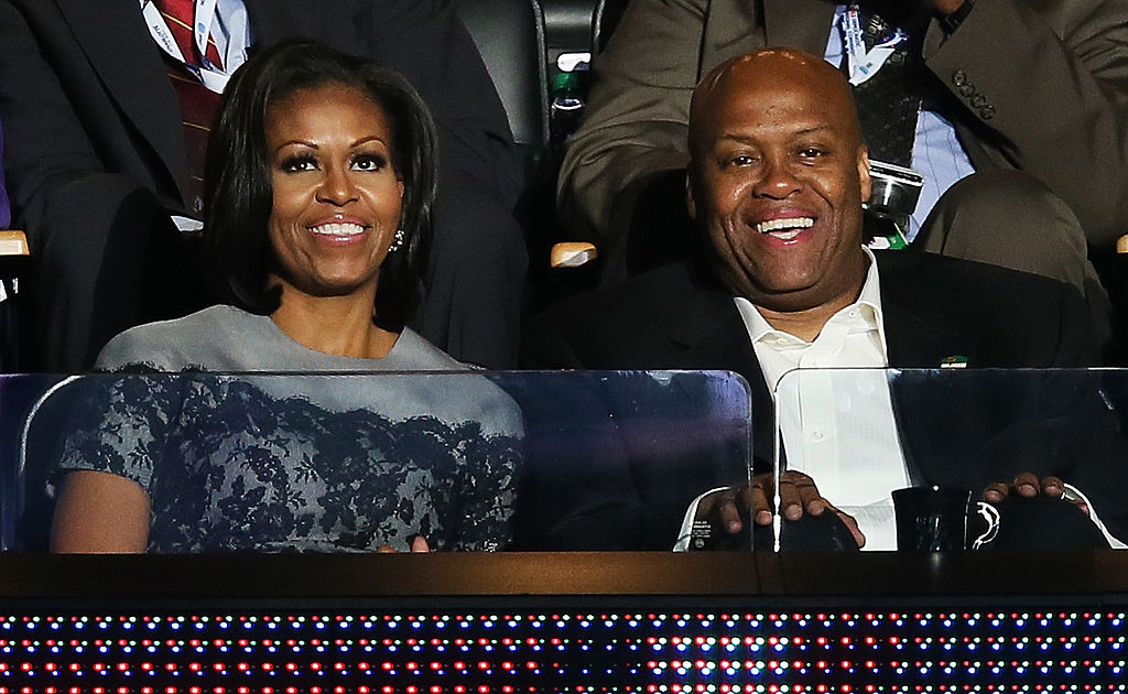 Michelle Obama and her older brother Craig Robinson