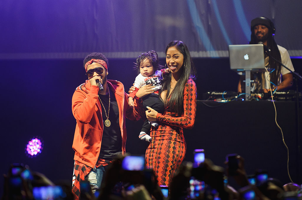 Omarion and Apryl Jones with their son Megaa