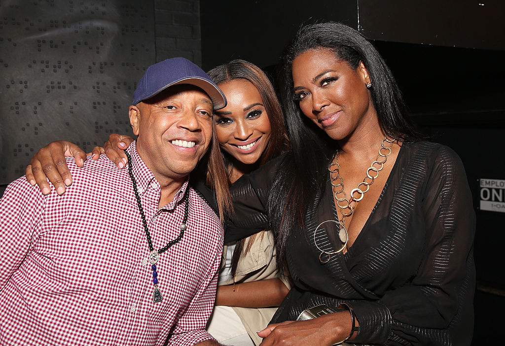 Russell Simmons, Cynthia Bailey, and Kenya Moore