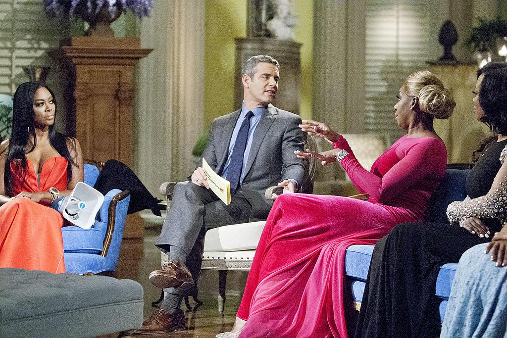 Kenya Moore, Andy Cohen, and Nene Leakes