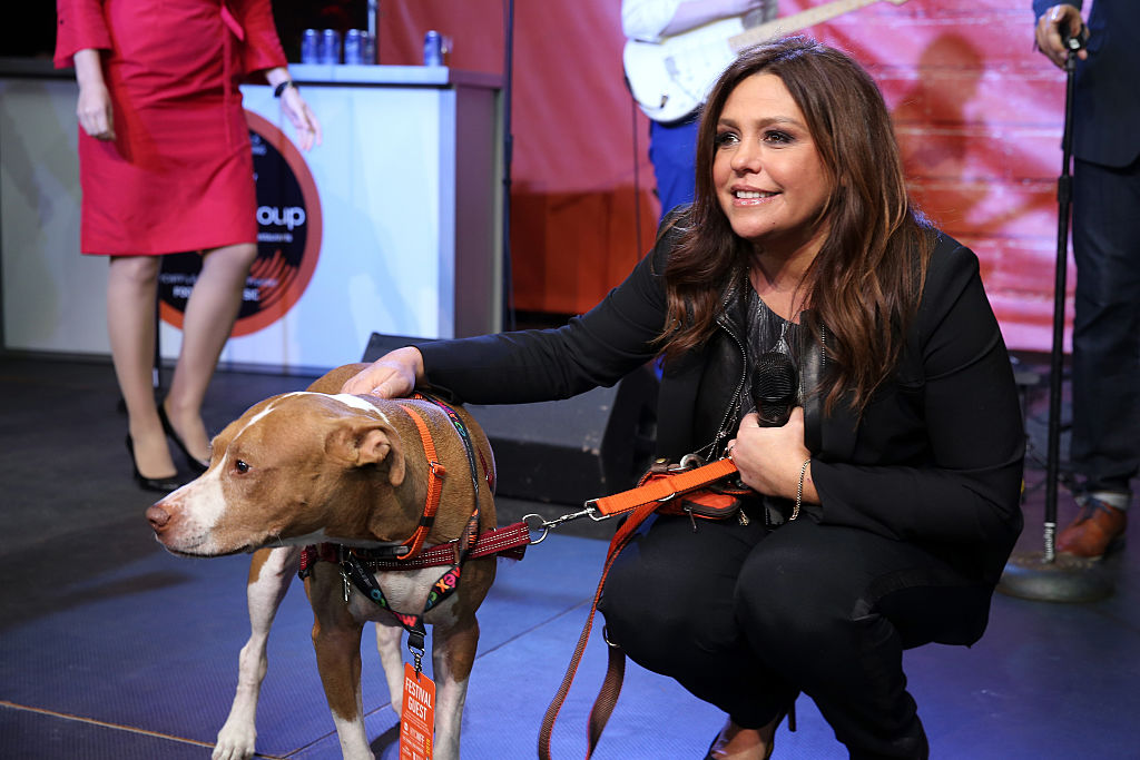 Rachael Ray and her beloved late pit bull, Isaboo
