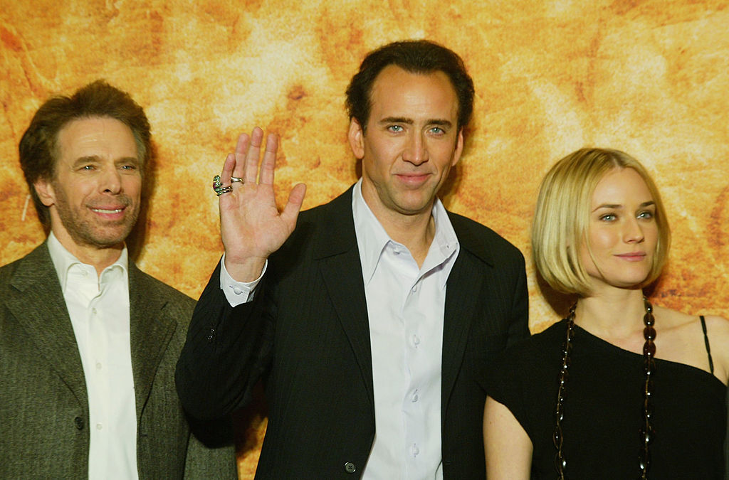 Producer Jerry Bruckheimer, and actors Nicolas Cage and Diane Kruger promoting 'National Treasure', 2004