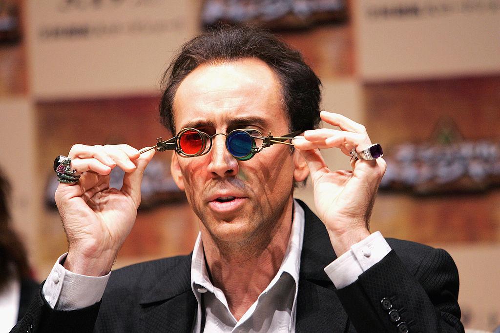 Nicolas Cage promoting 'National Treasure' 2004