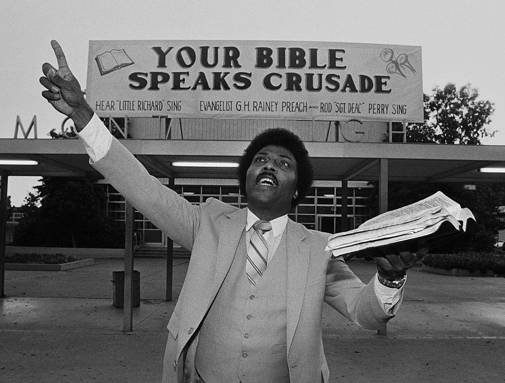 Little Richard preaching in 1981