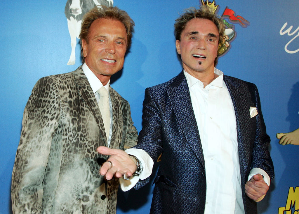 Left to right: Siegfried Fischbacher and Roy Horn, known professionally as illusionist duo 'Siegfried & Roy', 2007