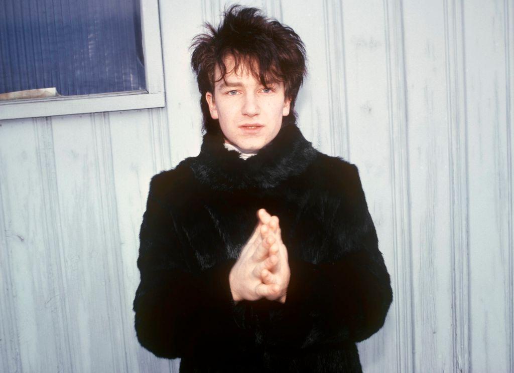 Bono at the beginning of his U2 career