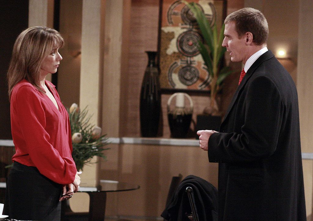 Nancy Lee Grahn and Ingo Rademacher in a scene from ABC's 'General Hospital'