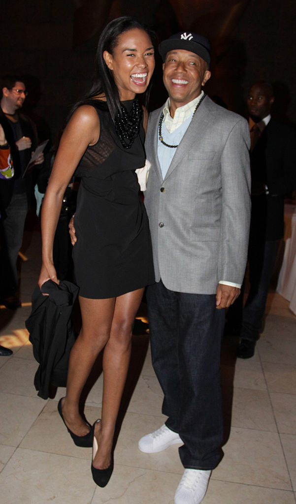 Katie Rost and Russell Simmons