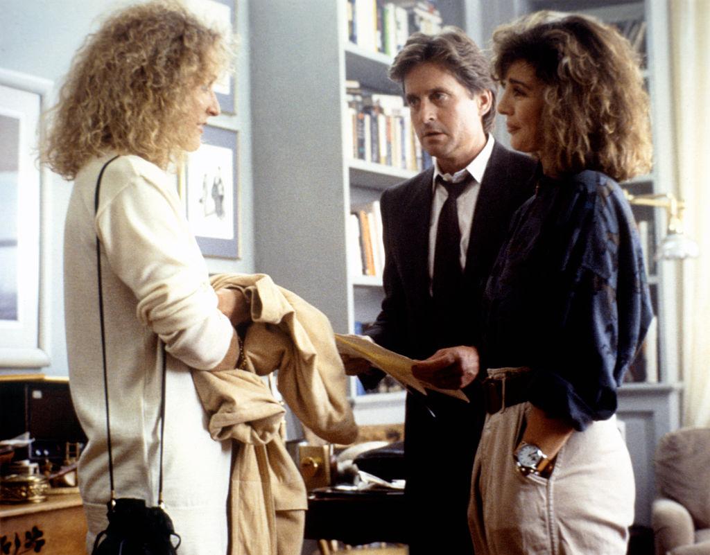 Glenn Close, Michael Douglas and Anne Archer