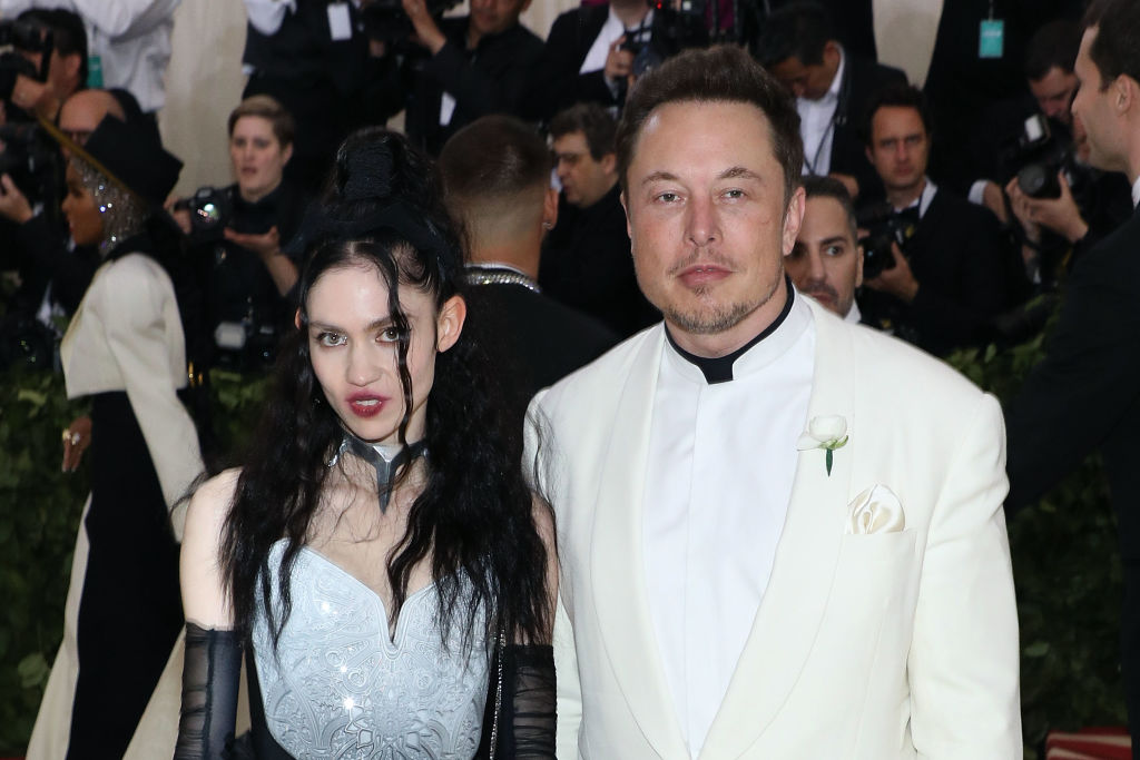 Grimes and Elon Musk attend 'Heavenly Bodies: Fashion & the Catholic Imagination,' the 2018 Costume Institute Benefit at Metropolitan Museum of Art
