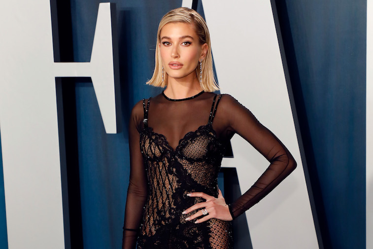 Hailey Bieber on the red carpet