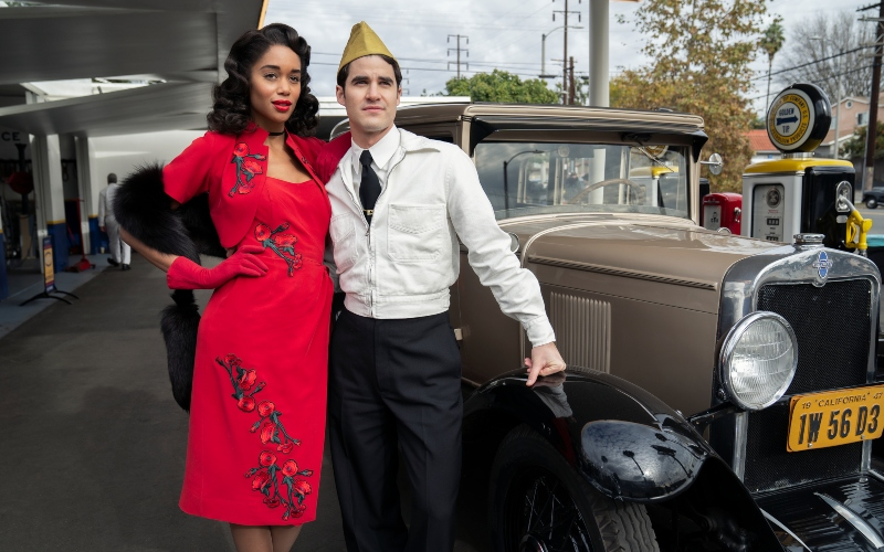 Darren Criss and Laura Harrier in 'Hollywood'
