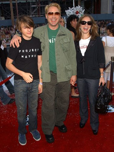 Indio Falconer Downey, Robert Downey Jr., and Susan Downey
