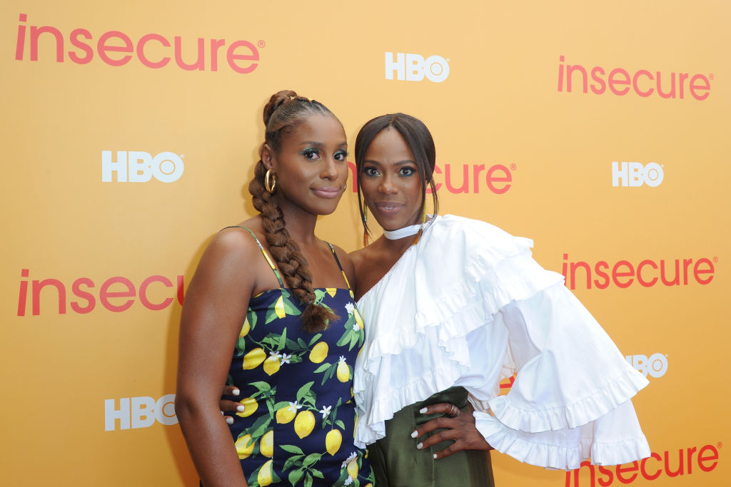 Issa Rae and Yvonne Orji at an event in July 2018