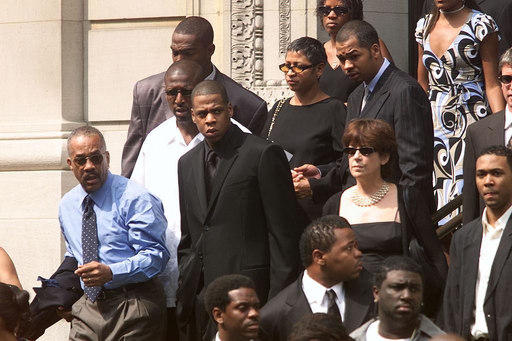 JAY-Z at Aaliyah's funeral