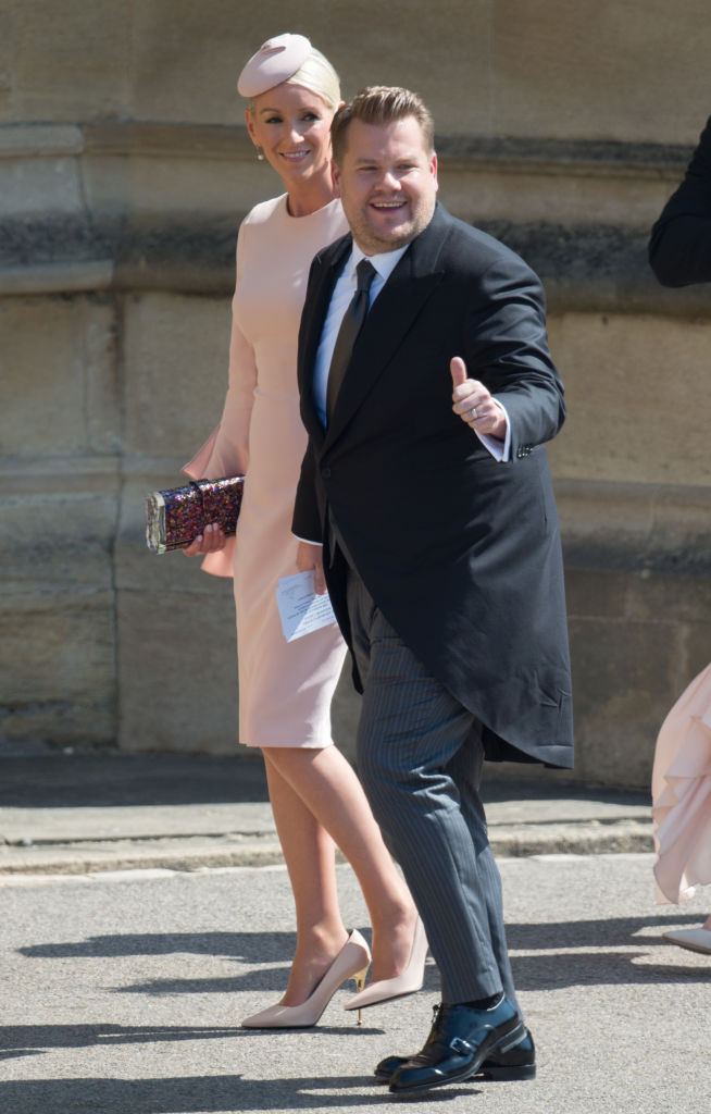 James Corden and Julia Carey at Prince Harry and Meghan Markle's wedding