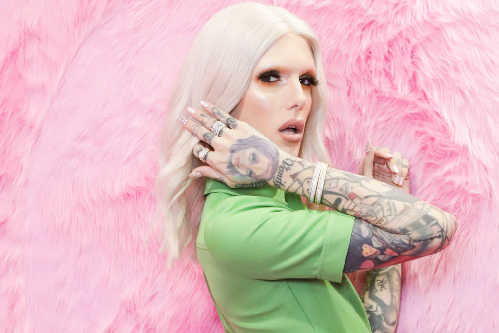 Jeffree Star poses for photos at Cosmoprof at BolognaFiere Exhibition Centre