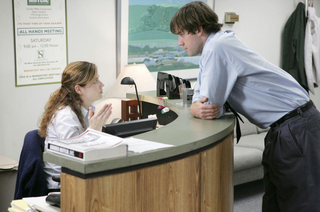 Jenna Fischer and John Krasinski of 'The Office'