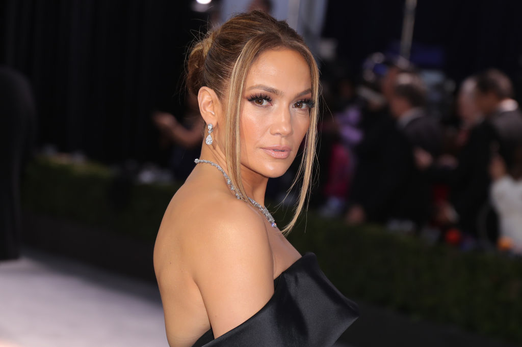Jennifer Lopez on the red carpet at an event in January 2020