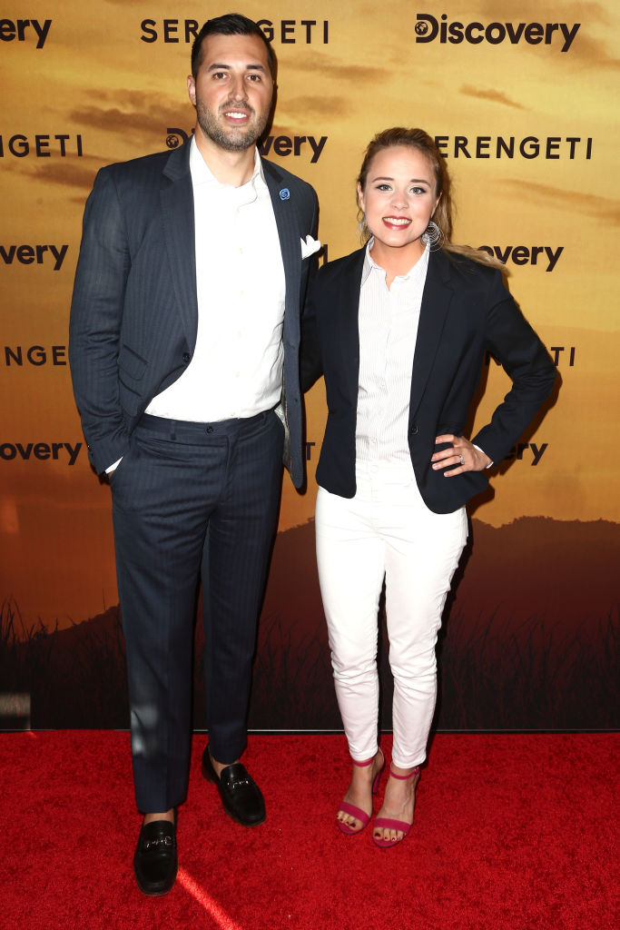 """Jeremy Vuolo and Jinger Duggar attend the Los Angeles Special Screening Of Discovery's """"Serengeti"""" at Wallis Annenberg Center."""