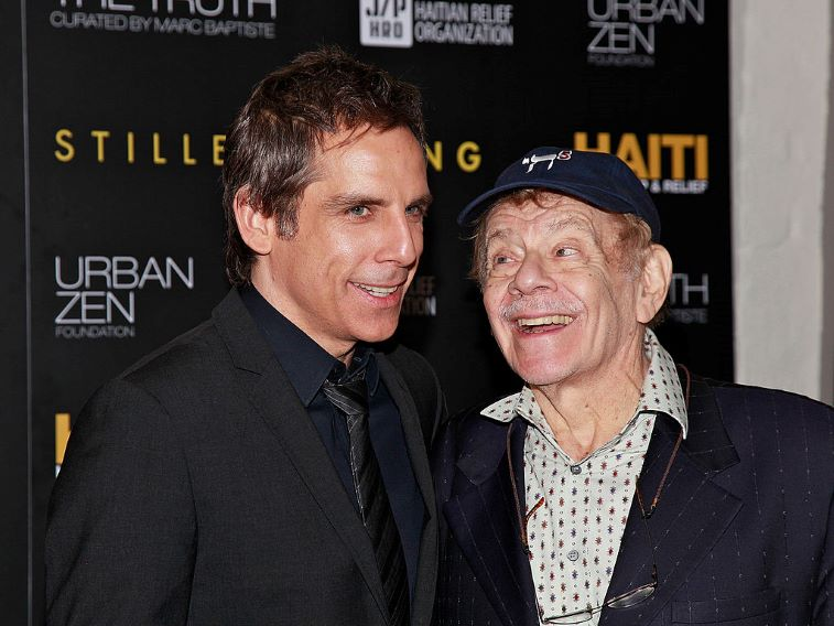 Ben Stiller with his father, Jerry Stiller