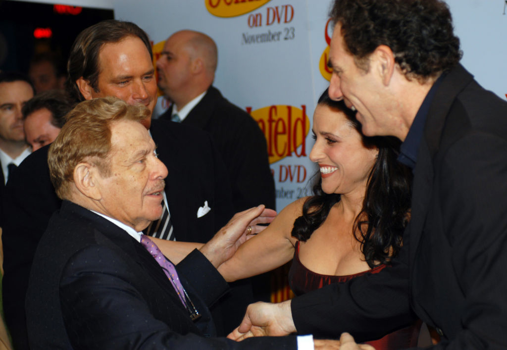 Jerry Stiller, Julia Louis-Dreyfus, and Michael Richards of 'Seinfeld'
