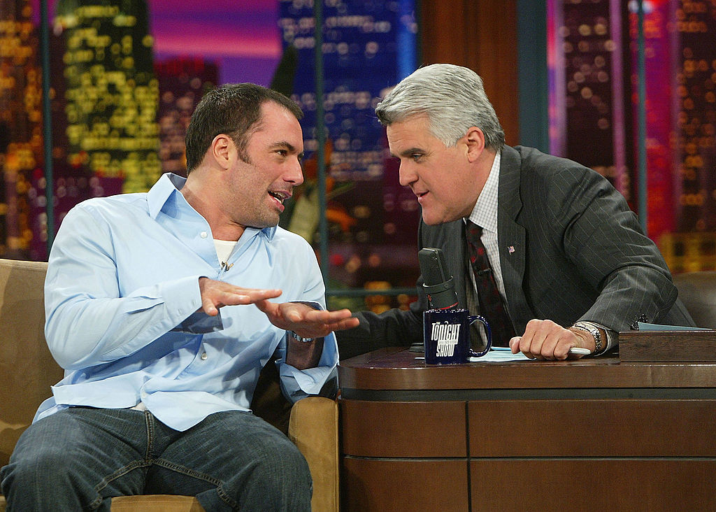 Joe Rogan and Jay Leno talking on an episode of 'The Tonight Show'