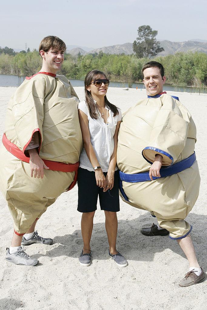 John Krasinski, Rashida Jones, and Ed Helms on 'The Office'