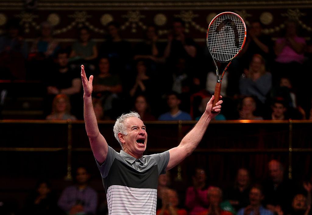 John McEnroe celebrates a victory