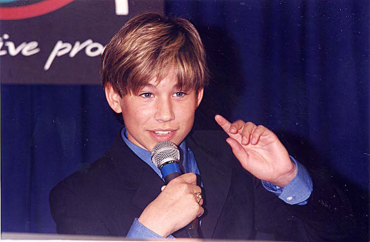 Jonathan Taylor Thomas during ShoWest '96 in Las Vegas