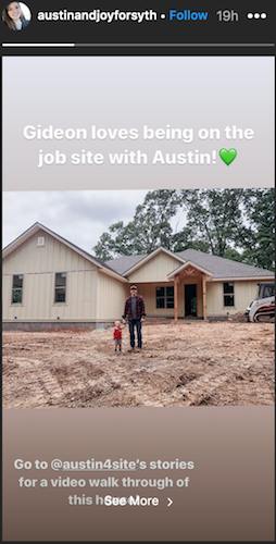 Joy Duggar and Austin Forsyth's most recent home project