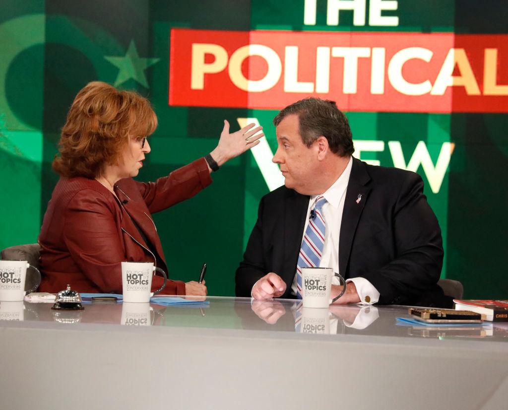 Joy Behar and Chris Christie on The View