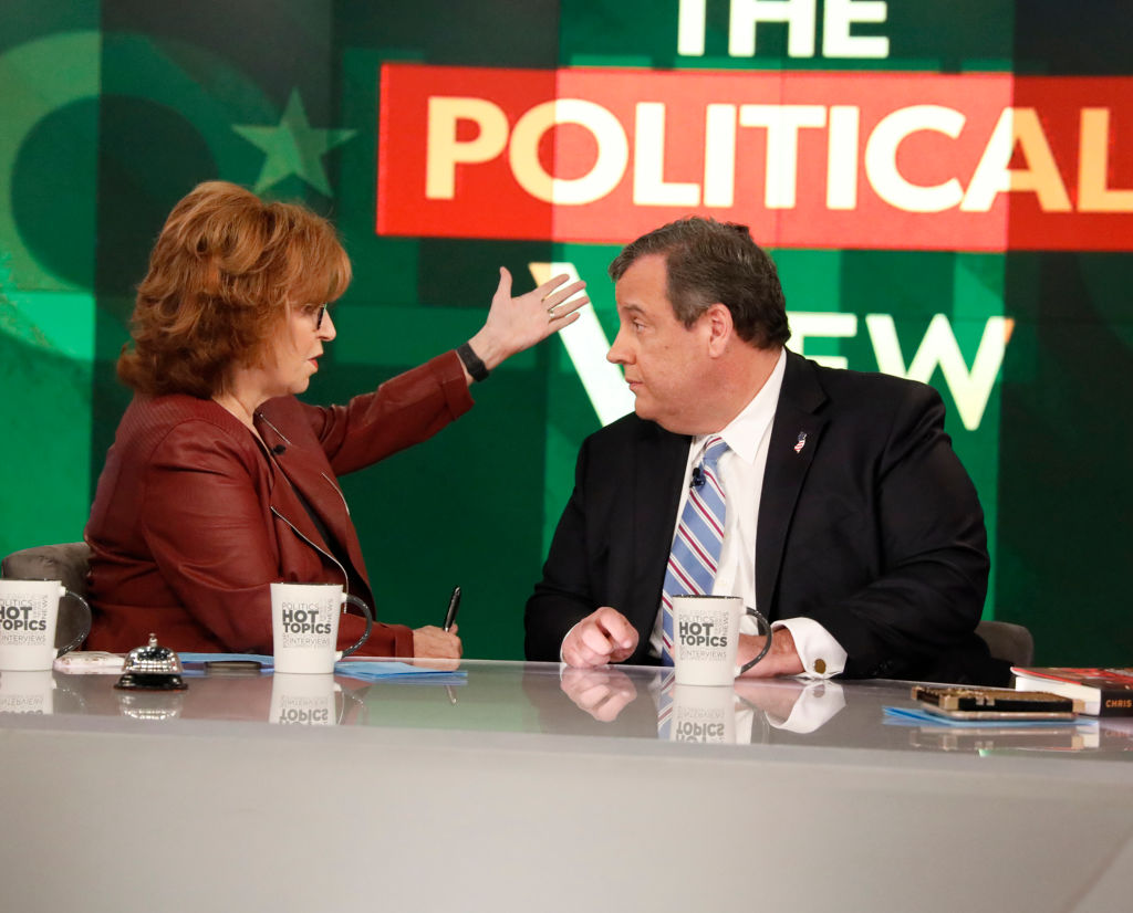 Joy Behar and Chris Christie on The View
