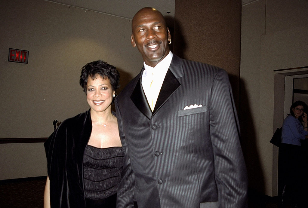 Michael Jordan and wife Juanita at benefit for the All Kids Foundation at the Marriott Marquis Hotel