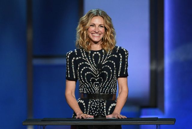 Julia Roberts speaks onstage during AFI Life Achievement Award honoring Denzel Washington