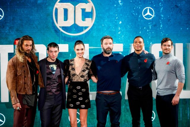 The cast of 'Justice League' at a photocall for the film