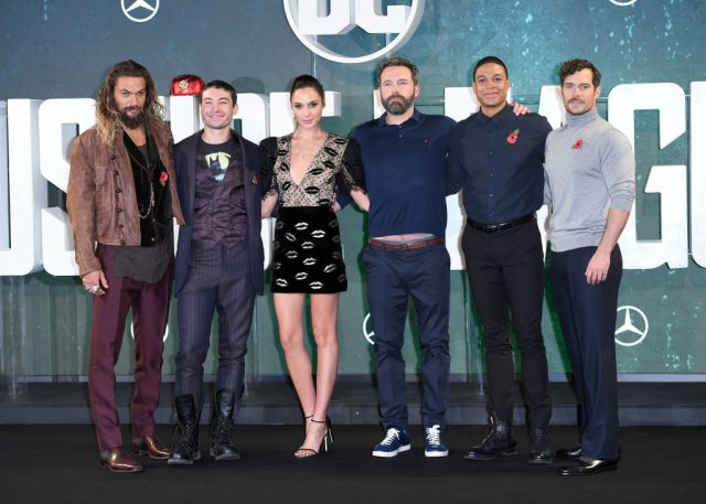 The cast of 'Justice League' at a photocall