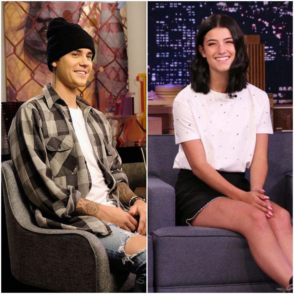 Justin Bieber and Charli D'Amelio
