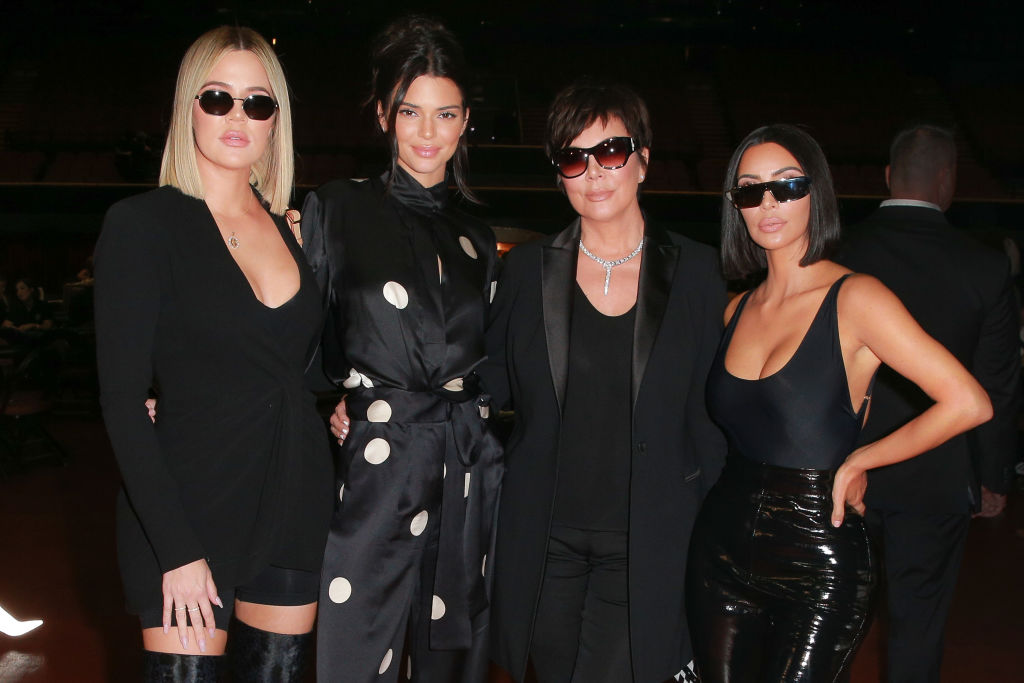 (L-R) Khloe Kardashian, Kendall Jenner, Kris Jenner and Kim Kardashian West