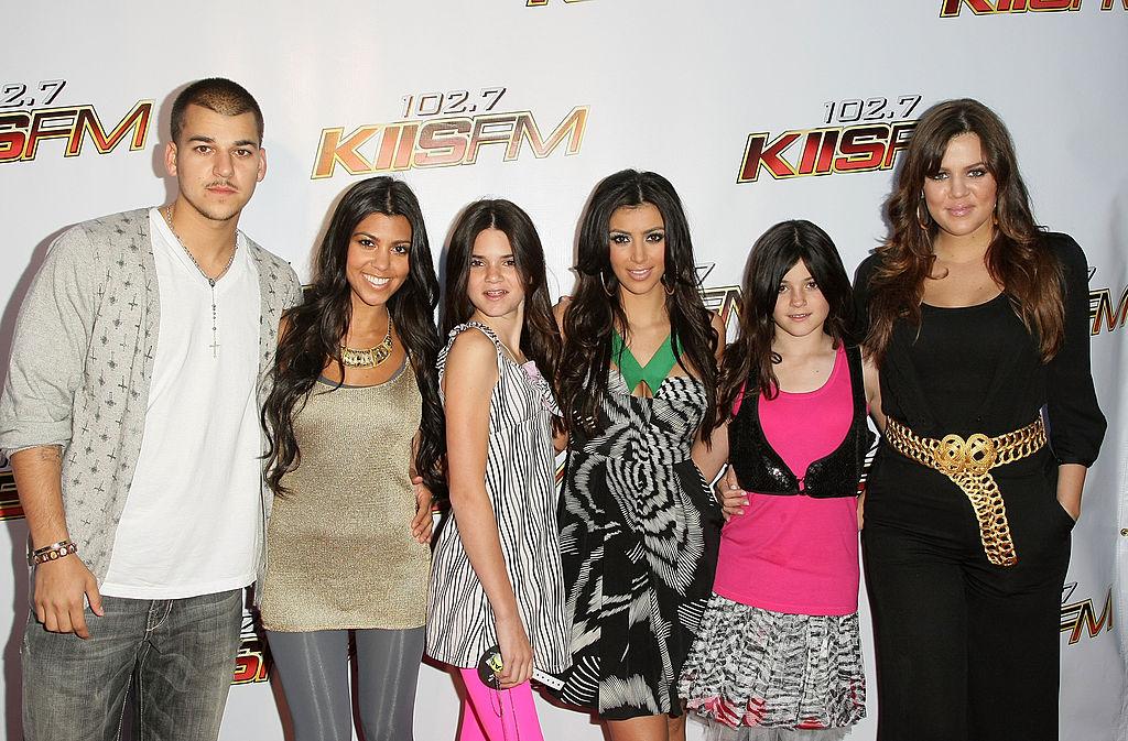 Robert Kardashian, Kourtney Kardashian, Kendall Jenner, Kim Kardashian, Kylie Jenner, and Khloe Kardashian