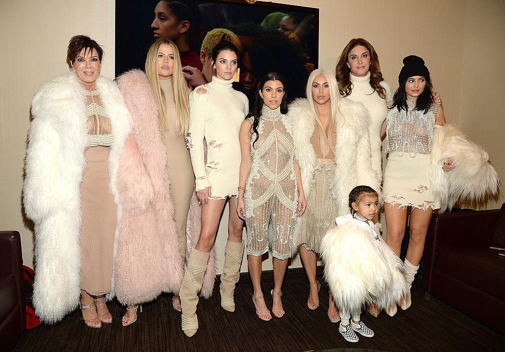 Khloe Kardashian, Kris Jenner, Kendall Jenner, Kourtney Kardashian, Kim Kardashian West, North West, Caitlyn Jenner and Kylie Jenner