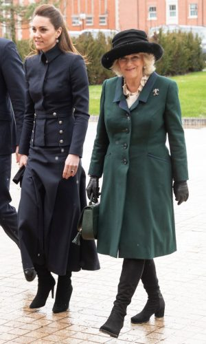 Kate Middleton and Camilla Parker Bowles visit Leicestershire in February 2020