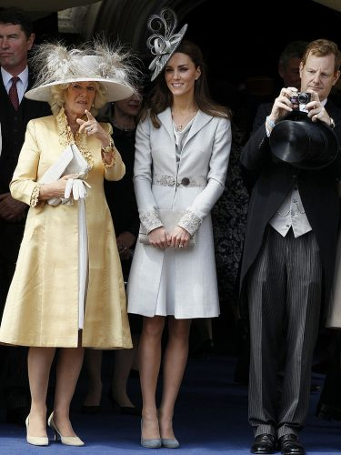 Kate Middleton and Camilla Parker Bowles at Garter Service, 2011