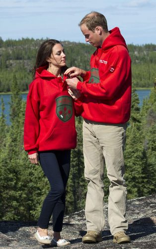 Kate Middleton and Prince William in Canada wearing matching sweatshirts