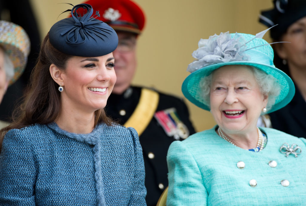 Kate Middleton and Queen EIizabeth II